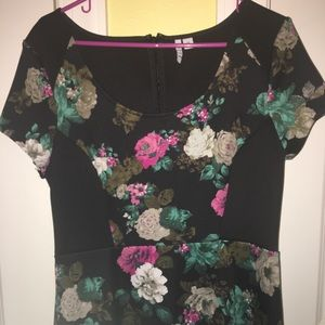 Elle Dresses - Elle Black, Pink, & Teal Floral Dress